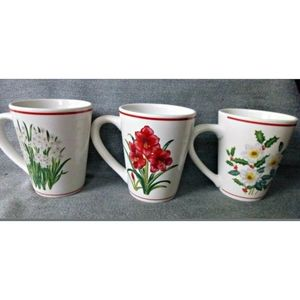 American Atelier Coffee Cup Mug Stoneware Set Of 3